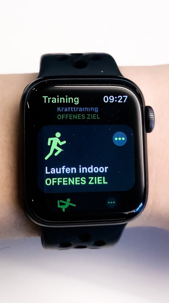 laufen indoor apple watch