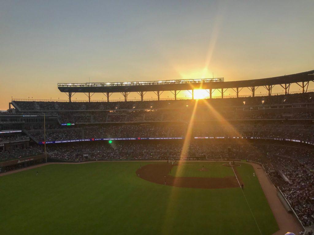 Sun Trust Stadium bei Sonnenuntergang