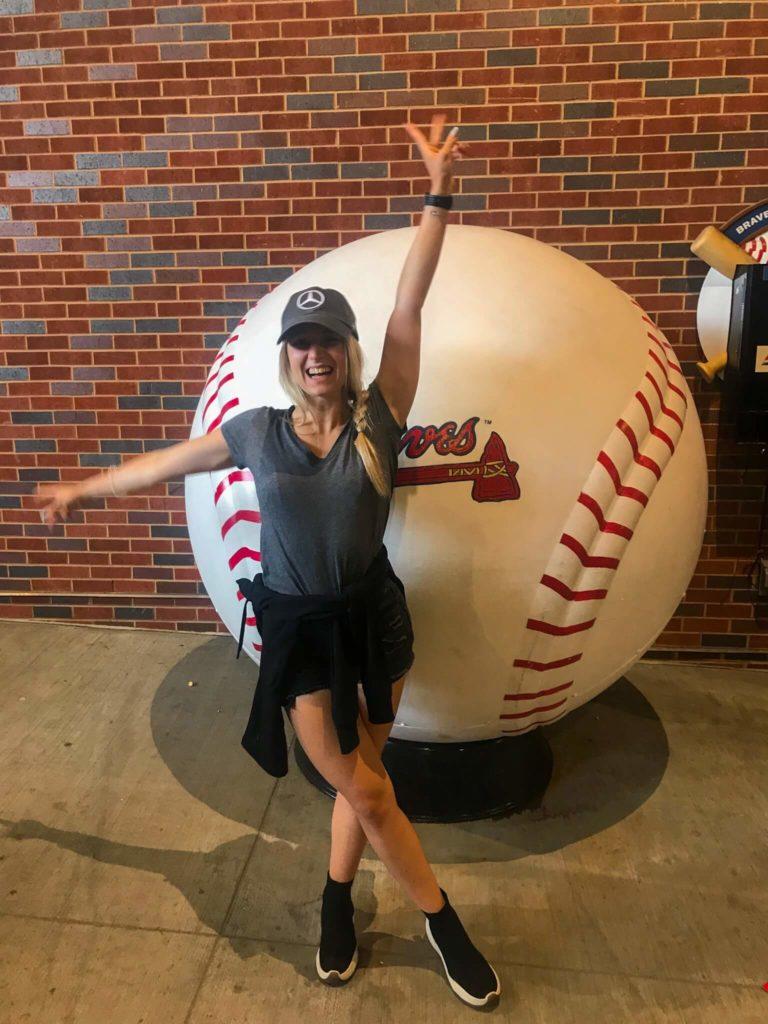 Bloggerin Raffaela vor Baseball