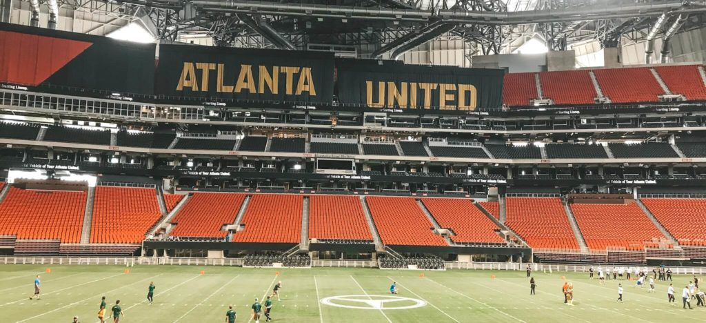 Flagfootball Game Atlanta United Schrift
