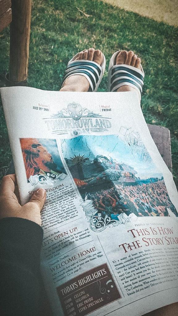 Tomorrowland Zeitung